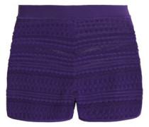 Crochet-knit shorts