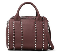 Rockie Studded Pebbled-leather Shoulder Bag Merlot Size --