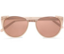 D-frame Acetate And Rose Gold-tone Sunglasses Ivory Size --