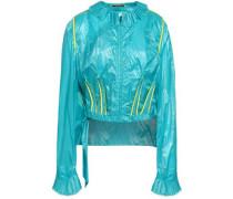 Frayed Shell Jacket Turquoise