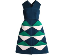 Color-block Scuba Dress Petrol