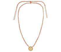 Friendship Lucky 18-karat gold, diamond and silk necklace