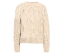 Pointelle-knit Alpaca-blend Sweater Beige