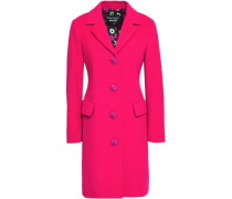 Button-detailed wool and cashmere-blend felt coat
