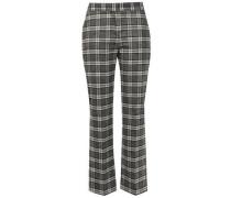 Tweed Straight-leg Pants Gray