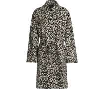 Guillaume leopard-print cotton-blend trench coat