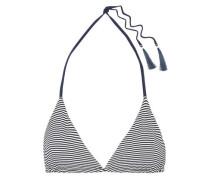 Joan Reversible Striped Triangle Bikini Top Navy