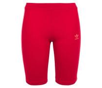 Woman Grosgrain-trimmed Cotton-blend Stretch-jersey Shorts Claret