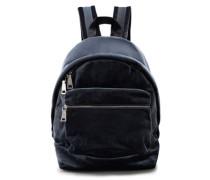 Avril Grosgrain-trimmed Velvet Backpack Petrol Size --