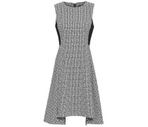 Draped Houndstooth-jacquard Dress Black