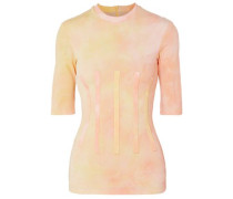Woman Vitality Tie-dyed Stretch-cady Top Pastel Orange
