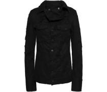 Norwood Distressed Denim Jacket Black