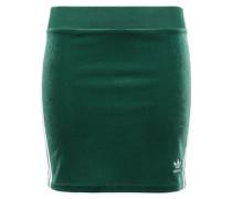 Striped Velvet Mini Skirt Emerald