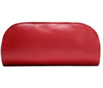 Leather Clutch Red Size --