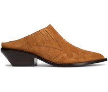 Suede Mules Light Brown