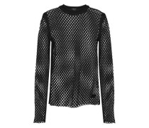 Lonely Street Stretch-mesh Top Black
