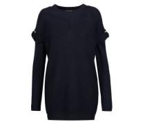 Freda embellished waffle-knit wool-blend sweater