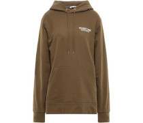 French Cotton-terry Hoodie Army Green