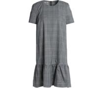 Ruffled Prince of Wales cotton-blend mini dress