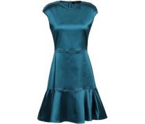 Fluted Satin Mini Dress Petrol