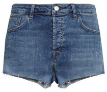 Faded Denim Shorts Mid Denim  4