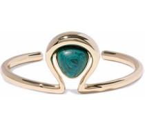 Gold-tone lapis lazuli cuff