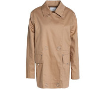 Double-breasted cotton-gabardine jacket