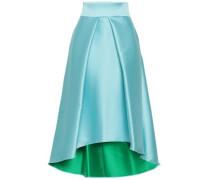 Flared Pleated Duchesse-satin Skirt Sky Blue