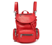 Mini Convertible Leather Backpack Tomato Red Size --