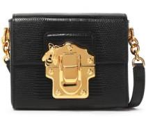 Lucia lizard-effect leather shoulder bag