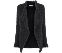 Campbell Frayed Bouclé-knit Jacket Dark Gray