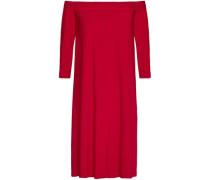 Off-the-shoulder Jersey Dress Claret