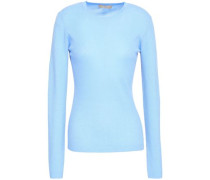 Ribbed Cashmere Sweater Light Blue