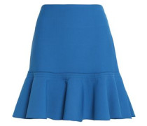 Fluted crepe mini skirt