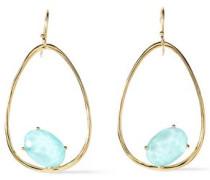 18-karat Gold Quartz Earrings Turquoise Size --