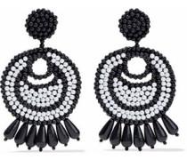 Faux pearl beaded earrings