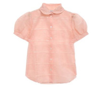 Eugenie Embroidered Organza Shirt Peach