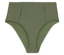 Leah Ribbed High-rise Bikini Briefs Army Green