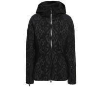 Freelite Shell-paneled Jacquard-knit Hooded Jacket Black