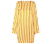 Striped Twill Mini Dress Marigold Size 12