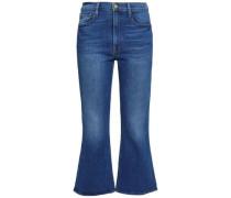 Faded High-rise Kick-flare Jeans Mid Denim  5