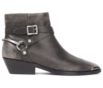Jade Strap-detailed Leather Ankle Boots