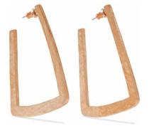 Hammered gold-tone hoop earrings