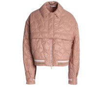 Metallic-trimmed quilted shell jacket