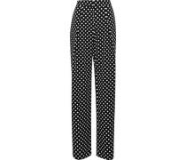 Kris polka-dot twill wide-leg pants