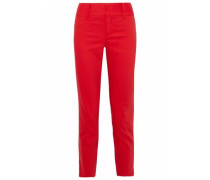 Faille cotton-blend tapered pants