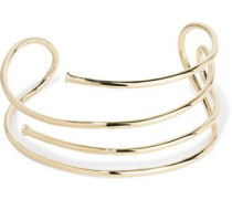 Large Pipe gold-plated choker