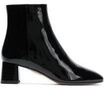 Grenelle Patent-leather Ankle Boots Black