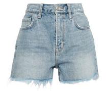 Distressed Denim Shorts Light Denim  3