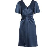 Woman Silvana Twist-front Satin Dress Storm Blue